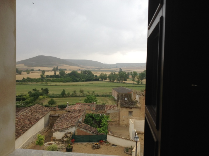 View from Casa Rural in Castrojeriz, Spain