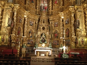 Inside of a church in a small village.  I believe this was in Navarette