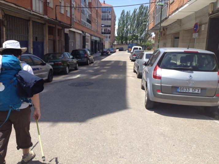 Walking into Burgos, Spain
