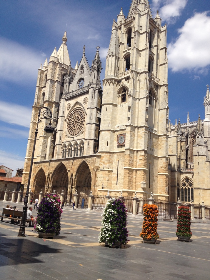 Leon Cathedral with thousands of years of history at this site